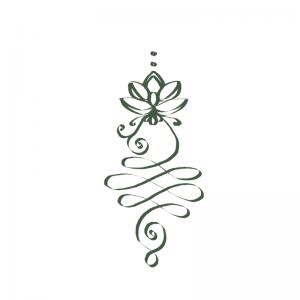 Unalome Enlightenment symbol green, Trinity Healing,