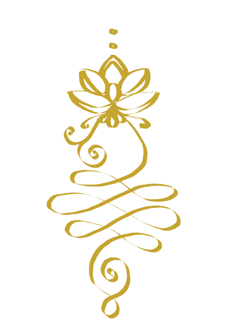 golden unalome enlightenment symbol