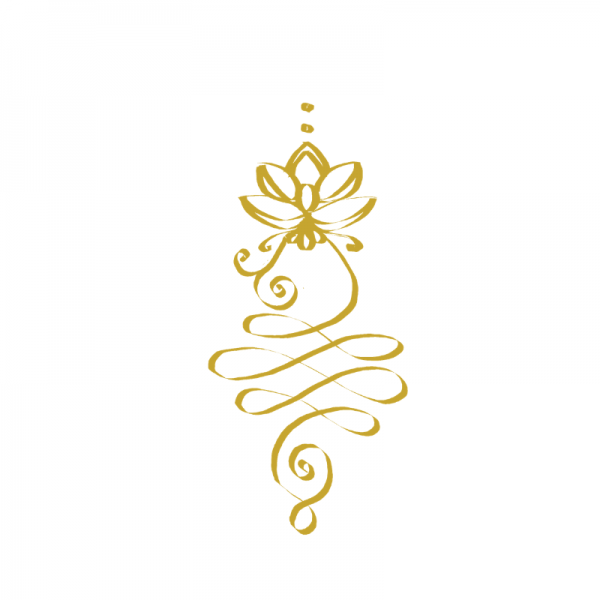 Unalome Enlightenment symbol golden, attraction healing audio