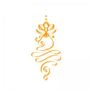 Unalome Enlightenment symbol orange, weight loss audio